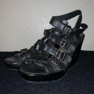 Wedge heeled gladiator sandals